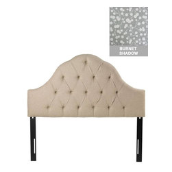 Home Decorators Collection - Custom Georgiana Upholstered Headboard - With an arched, scalloped design that features deep tufts creating the look of soft, plush comfort, our Georgiana Upholstered Headboard will add the look of traditional elegance to any bedroom. Choose from a wide range of beautiful, top-quality fabric options to create a piece that you are sure to love. Includes hardware to attach to most standard bed frames. Assembled to order in the USA and delivered in 4-6 weeks. Spot clean only.
