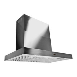 "Proline - Proline PLFW 750 Professional Wall Hood, 36 - Proline PLFW 750 Wall Mounted Range Hood. Powerful 1100 cfm Dual Blower Configuration, 6 Speed LCD Switch with Time Delay. 4 LED Lights. Beautiful, Sleek Stainless Baffle Filters, Easy Installation & one of the only Large Wall Hood models that can be used Ductless! This is our Super Low Profile, Sleek, All Stainless, Contemporary Design, Wall Mounted Range Hood. This Attractive and Versatile Range Hood looks and works great in any size. Elegant LCD Touch Controls, with Time Delay and 6 speeds from 300 cfm up to 1100 cfm, this hood has the power to handle the largest cooktops efficiently and quietly. Easy to Install and super low maintenance, this Wall Mounted Range Hood is available in 4 sizes (36"", 42"", 48"", 54"" and 60"") and is one of the very few large format hoods available as a ductless model. Stainless Baffle Filters that are easy to remove and clean, and the quietest 300 CFM setting in the industry. (Based on comparable size and local blower capacity). And power when you need it with 1100 CFM total capacity. This Range Hood comes with dual blowers and fan completely installed, and factory tested. This makes the installation one of the easiest in the industry and can accommodate ceiling heights from 7' (may need a custom cut) up to 10' with extensions available. * This ships FREE Standard Shipping."
