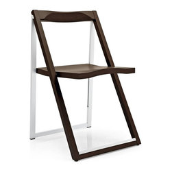 Calligaris - Skip Folding Chair (Set of 2) - Harmony between aluminum & wood. Folds easily for added functionality. Assembly required. Folds to 2 in.. Seat height: 18.125 in.. 18.5 in. W x 20.125 in. D x 31.5 in. H