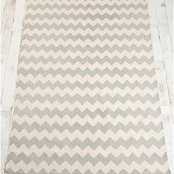 Zigzag Rug - With cute numbers like this, it's easy to see why chevron has been THE pattern lately. This fun but sturdy mat is perfect to add some interest to a busy area such as a kitchen or entryway.