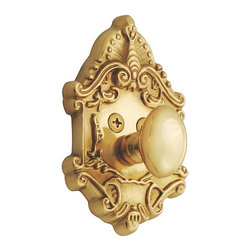 Nostalgic Warehouse - Nostalgic Victorian Deadbolt Keyed Differently in Unlacquered Brass (715124) - The Victorian Single Cylinder Deadbolt in Unlacquered brass with its distinct curvilinear embellishment, is unmistakably old world vogue. Keyed differently. Made of solid (not plated) forged brass for durability and beauty.