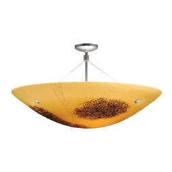 """LBL Lighting - LBL Lighting Veneto Venti Semi-Flush Amber 100W 3 Light Ceiling Fixture - LBL Lighting Veneto Venti Semi-Flush Amber 100W 3 Light Ceiling FixtureFeaturing genuine Italian Murano handmade Amber glass with fused frit patterns and real inlaid silver flakes, this exquisite 30"""" pendant will add a touch of class and style to any home or business. Install this fixture in level or sloped ceilings up to 45 degree steep with the special built in canopy. Add three 100 watt or equivalent medium base incandescent or fluorescent bulbs to provide ample lighting for this splendid fixture.LBL Lighting Veneto Venti Semi-Flush Amber 100W Features:"""