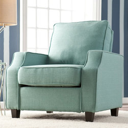 Upton Home - Upton Home 'Corey' Turquoise Upholstered Arm Chair - Add cool color to your home decor with this contemporary Upton Home accent chair. Finished in a soothing turquoise color,the beautiful Corey chair provides a comfortable seating experience for any room in the home.