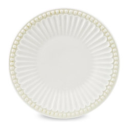 Lenox - Butler's Pantry Butter Platter - For a more ornate, old-fashioned dining experience, this butter platter come straight from the butler's pantry to your table. Serve your guests with a piece worthy of nobility.   6'' diameter Stoneware Microwave- and dishwasher-safe Imported