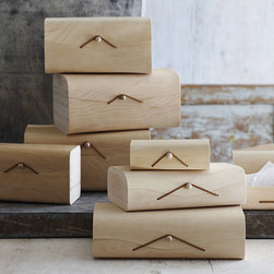 Birch Gift Box - Keep your knickknacks neat and tidy with these sleek birch veneer boxes.