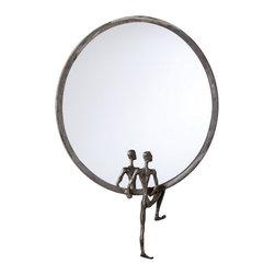 Cyan Design - Cyan Design 18 Inch Round Kobe Mirror Number 1 in Grey - 18 Inch Round Kobe Mirror Number 1 in Grey
