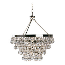 Robert Abbey - Robert Abbey Bling Chandelier with Convertible Double Canopy S1000 - Polished Nickel Finish