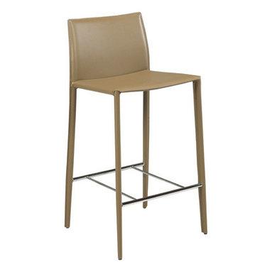 Lynda Stool - plywood seat on metal frame in nickel or black finish