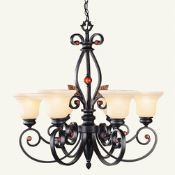 Livex Lighting - Livex Lighting 4426-56 6 Light 600W Chandelier With Medium Bulb Base And Iridesc - Livex Lighting is a manufacturer and distributor of decorative residential lighting.