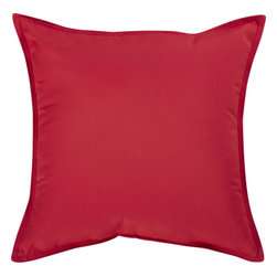 Sunbrella Chili Pepper 22-inch Square Outdoor Pillow - I think having large throw pillows tossed about your outdoor seating area creates a space where people want to hang out. The more comfortable people are, the longer they will stay.