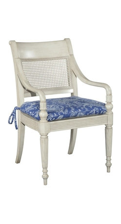 EuroLux Home - New West Indies Style Dining Arm Chair - Product Details