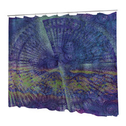 Uneekee - Uneekee Mermaid Shower Curtain - Your shower will start singing to you and thanking you for such a glorious burst of design as you start your day!  Full printing on the front and white on the back.  Buttonhole openings for shower rings.