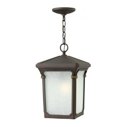 Hinkley - Hinkley Stratford One Light Oil Rubbed Bronze Hanging Lantern - 1352OZ-GU24 - This One Light Hanging Lantern is part of the Stratford Collection and has an Oil Rubbed Bronze Finish. It is Outdoor Capable, and Damp Rated.