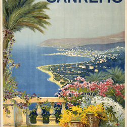 Keep Calm Collection - Sanremo Vintage Travel Poster, art print - This product is reproduced from a publication, advertisement, or vintage poster. To maintain consistency with the original image, this final product has not been retouched. This print is produced on a 270 gsm fine art paper stock.
