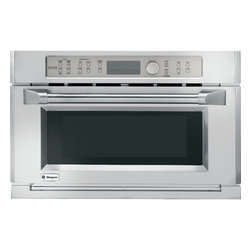 GE Monogram - GE Monogram Built-In Oven with Advantium® Speedcook Technology- 240V - The remarkable performance capabilities of a Monogram Advantium speedcooking oven are matched by the bold design, which beautifully complements other Monogram cooking appliances. These ovens deliver delicious results up to eight times faster than a conventional oven, and no preheating is required.