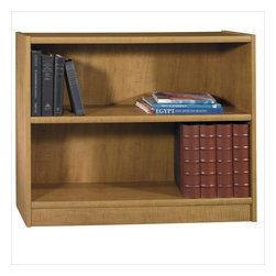 "Bush - Bush Universal 30""H 2 Shelf Wood Bookcase in Snow Maple - Bush - Bookcases - WL1244903 - Add extra storage to any room with a versatile and casually elegant Universal Bookcase from Bush Furniture. These wood book shelves work well in a home setting or workplace providing extra storage in an office or boardroom living room or den.     Features:"