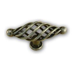 Century Hardware - Wrought Iron - Appliance Oval Knob - Wrought Iron (CENT42428-WI) - Wrought Iron - Appliance Oval Knob - Wrought Iron (CENT42428-WI)
