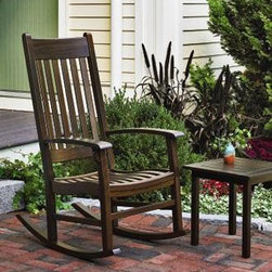 "Chatham Rocker - Quality and style embellish those lazy, hazy days of summer on the porch.  45 1/2"" H, 26"" W, 34 1/2"" D. Kit rockers."