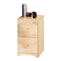 The Renovators Supply - File Cabinets Country Pine 26 1/2'' H File Cabinet 2 drawer | 125613 - Shaker File Cabinet. This 2 drawer unit has built-in file hangers and full suspension drawers for legal and letter size files. It measures 26 1/2 in. high x 15 1/2 in. wide x 19 1/2 in. deep. It comes finished in our Country Pine stain.