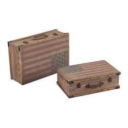 Sterling Industries - National-Wooden Storage Cases - National-Wooden Storage Cases