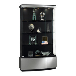 Waddell - Quantum Full Floor Display Case in Brushed Silver Finish - Making the most of being the best! Waddells stunning new line of contemporary cases, the Quantum Series, lets you make a striking yet exquisite statement about your company and your leadership. Each case is carefully crafted to the exact standards that have been the hallmark of Waddell products for more than a century.