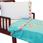 Store51 LLC - Elephant Parade Toddler Bedding Set Animal Blanket Sheets - FEATURES: