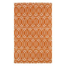 Kaleen - Kaleen Revolution REV02 (Orange) 8' x 11' Rug - The color Revolution is here! Trendy patterns with a fashion forward twist of the hottest color combinations in a rug collection today. Transform a room with the complete color makeover you were hoping for and leaving your friends jealous at the same time! Each rug is hand-tufted and hand-carved for added texture in India, with a 100% soft luxurious wool.