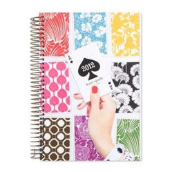 2012 Desk Top Spiral Calendar - This whimsical kate spade 2012 day planner is perfect for the glamorous and classy lady who still appreciates paper.