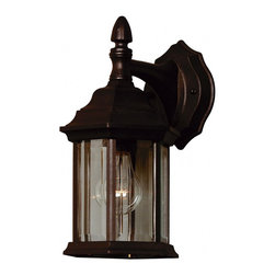 Kenroy Home - Kenroy Home Custom Fit 1-Light Wall Lantern, Black Finish - 16266BL - With 5 different potential looks, Custom Fit will let your creative light shine. Available in Black, Rust or White finishes, you can combine the finials, tails and glass into multiple configurations to find the one that will be just right for your outdoor.