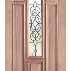 """Decorative Center Arch Lite, Mahogany Single Entry Door, 36x80 - SKU#PL-58_1BrandAAWDoor TypeExteriorManufacturer CollectionBudget DoorsDoor ModelDoor MaterialWoodgrainVeneerPrice550Door Size Options36"""" x 80"""" (3'-0"""" x 6'-8"""")  $0Core TypeDoor StyleDoor Lite StyleCenter Arch LiteDoor Panel Style7 Panel , Raised MouldingHome Style MatchingBay and Gable , Bungalow , Elizabethan , Plantation , VictorianDoor ConstructionEngineered Stiles and RailsPrehanging OptionsPrehung , SlabPrehung ConfigurationSingle DoorDoor Thickness (Inches)1.75Glass Thickness (Inches)3/4Glass TypeTriple GlazedGlass CamingBrass , BlackGlass FeaturesTempered , InsulatedGlass StyleGlass TextureGlass ObscurityDoor FeaturesDoor ApprovalsDoor FinishesDoor AccessoriesWeight (lbs)340Crating Size25"""" (w)x 108"""" (l)x 52"""" (h)Lead TimeSlab Doors: 7 daysPrehung:14 daysPrefinished, PreHung:21 daysWarranty"""