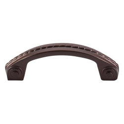 """Top Knobs - Rope D Pull - Oil Rubbed Bronze (TKM787) - Rope D Pull 3"""" (c-c) - Oil Rubbed Bronze"""