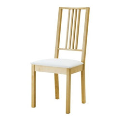 Börje Chair, Birch/Gobo White - I have had these for a couple of years, and I enjoy their straight lines and comfort. Hours have been spent sitting in them enjoying a meal and conversation.