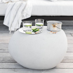 Pebble Side Table - This is my current favorite. It's like a giant pebble sculpture that also happens to be functional.