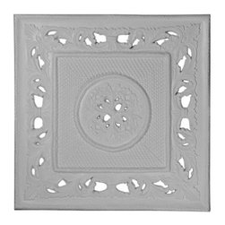 Ashford Ceiling Tile - 28.75L x 28.75W in. - The Ashford Ceiling Tile - 28.75W x 28.75H in. helps give a trendy and chic style to your living space. With this tile, you can make your room the decorative focal point of your home. Its square silhouette adds to its visual appeal and mounting convenience. Ideal for indoor use, the tile features a lovely floral theme to elevate the décor of your home. Transitional style of this ceiling tile enables it perfect for use in traditional as well as modern home décors.