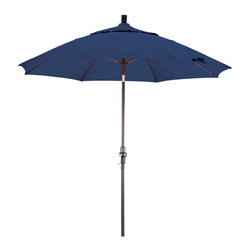 Phat Tommy Aluminum Umbrella Made with Pacifica Fabric, Sapphire, 7.5 Feet - The PHAT TOMMY 7.5 Foot Aluminum Market Umbrella is part of our Outdoor Oasis Line. This is our highest quality aluminum umbrella, featuring Pacifica fabric. Made of canvas grade polyester fabric, Pacifica will give you years of use. The four year fade, rot and mildew resistant warranty will ensure your umbrella stays looking brand new, season after season. The umbrella frame comes with a one year warranty.