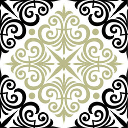 Odhams Press - Chartwell Sage RETile Decal, Clear Background - RETile decals can be used to accent or transform your existing ceramic, stone or glass tiles. They are easy to apply and can be removed in the future without leaving a sticky residue.