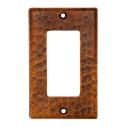 Premier Copper Products - Copper Single Ground Fault/Rocker GFI Switchp - Dimensions: 2.75 in. x 4.5 in.