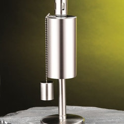 Cylinder Tabletop Torch - Experience the warmth of the fire without the hassle of woods and smell with Anywhere Fireplace's Cylinder Tabletop Torch. This Stainless Steel Tabletop Lawn Torch would surely accentuate your garden!