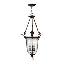Hinkley Lighting - Hinkley Lighting 3714FB Forum Bronze 3 Light Indoor Urn Pendant from the Rockfor - Hinkley Lighting 3714FB 3 Light Rockford Foyer Light, Forum Bronze This Hinkley Lighting item comes in a forum bronze finish. It is available with hand