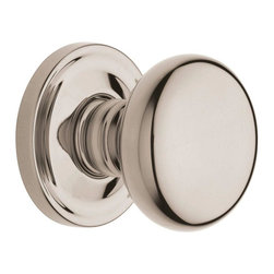 Baldwin Hardware - Estate Classic with Passage Knob in Lifetime Polished Nickel - The Estate line offers the ultimate flexibility in creating your own custom look. Not only can you mix knobs, levers, and roses to create a custom lockset that's a true fit to your design vision, you can also mix knob and lever styles on each side of the