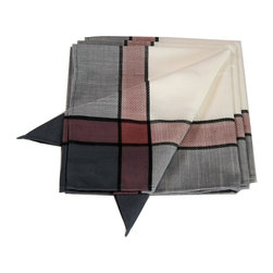 Xia Home Fashions - Riviera Table Linens Set Of 4 20-Inch Square Napkins, White - Continental elegance meets rustic charm in this beautiful table linens collection! Decorate your home in an elegant pattern all year round, It will inspire you!