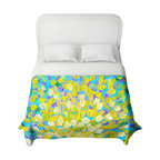 DiaNoche Designs - Splash II Duvet Cover - Lightweight and super soft brushed twill duvet cover sizes twin, queen, king. Cotton poly blend. Ties in each corner to secure insert. Blanket insert or comforter slides comfortably into duvet cover with zipper closure to hold blanket inside. Blanket not included. Dye Sublimation printing adheres the ink to the material for long life and durability. Printed top, khaki colored bottom. Machine washable. Product may vary slightly from image.