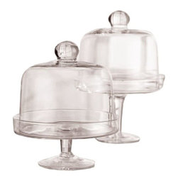 Home Essentials Mini Domed Cake Stands, Clear - It's true: Everything is cuter in miniature.