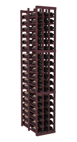 Wine Racks America - 3 Column Double Deep Cellar in Pine, Burgundy - High capacity double deep wine racks are attractive, functional and efficient. Turn your unused space into wine storage with just one wine rack. Keep 9 cases of wine in only three columns. This wooden wine rack kit is perfect for creating maximum storage capacity from deep but narrow areas like pantries.