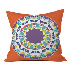 DENY Designs - Karen Harris Mod Medallion Mulberry Outdoor Throw Pillow - Do you hear that noise? it's your outdoor area begging for a facelift and what better way to turn up the chic than with our outdoor throw pillow collection? Made from water and mildew proof woven polyester, our indoor/outdoor throw pillow is the perfect way to add some vibrance and character to your boring outdoor furniture while giving the rain a run for its money.