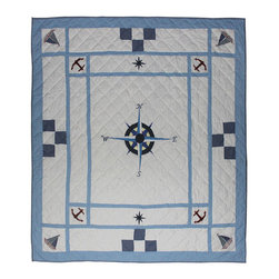 Patch Quilts - Star of the Sea Quilt Queen 85 x 95 - - Intricately appliqued and beautifully hand quilted.Bedding ensemble from Patch Magic  - The Name for the finest quality quilts and accessories  - Machine washable.Line or Flat dry only Patch Quilts - QQSTSE