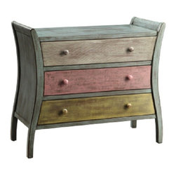 Coast To Coast - Multicolored Three Drawer Chest - 46203 - Coast To Coast - Multicolored Three Drawer Chest - 46203