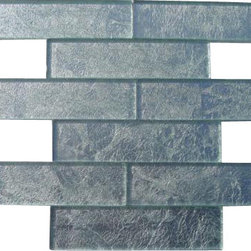 """GlassTileStore - Metallic Stardust 2x8 Glass Tile - Metallic Stardust Glass Tile             These striking glass tiles give a luminescent quality to any bathroom or kitchen installation.These versatile tiles help create an elegant, custom look for any decor. You can also add an artistic and dramatic flair to the room. Using a subway tile as a back splash will add style and color to your kitchen decor or any decorated room in your home. It will also give ita more distinct look.          Chip Size: 2""""x8""""   Color: Metallic Silver   Material: Painted Foil Glass   Finish: Polished    Sold by the Square Foot - 9 pieces per sq. ft.   Please note each lot will vary from the next.            - Glass Tile -"""
