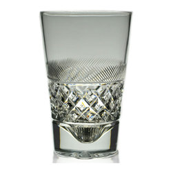 Lavish Shoestring - Consigned 3 Whisky Tumbler Cut Glasses by Webb Corbett, Vintage English - This is a vintage one-of-a-kind item.
