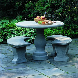 Palladio Stone Table from Campania International - Palladio Stone Table available at LandscaperOutlet.com